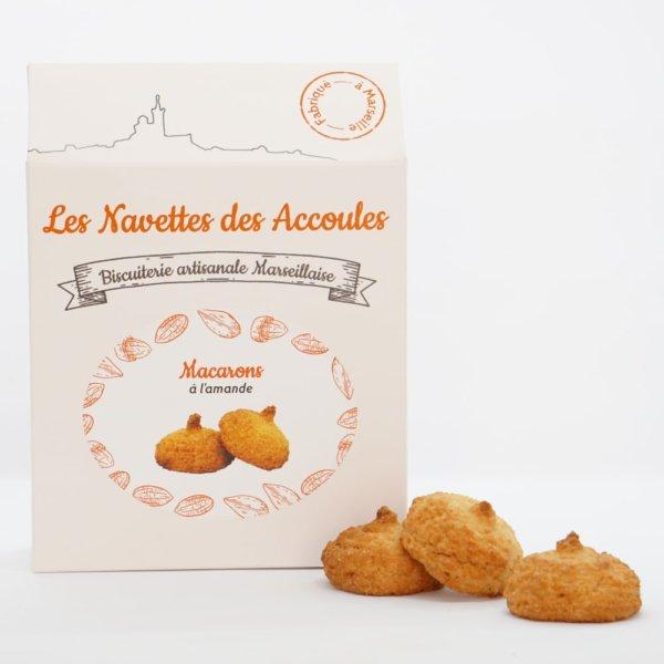 Macarons amandes - boite cartonnée